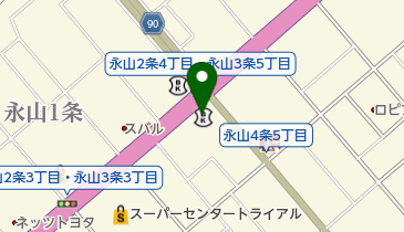 北洋銀行永山北支店の地図画像