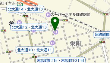 駅前ホテルパルーデ釧路の地図画像
