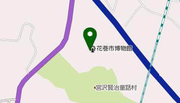 花巻市博物館の地図画像