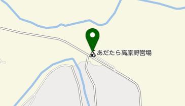 あだたら高原野営場の地図画像