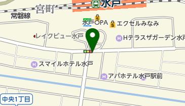 水戸駅南口の地図画像