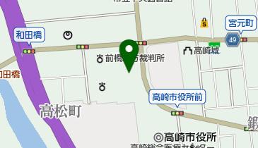 高崎シティギャラリーの地図画像