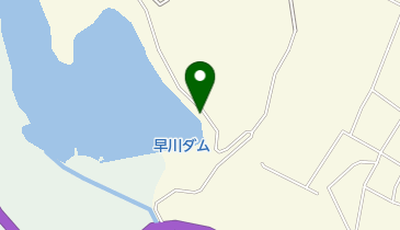 早川貯水池の地図画像