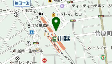 川越駅前交番の地図画像