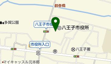 八王子市役所の地図画像