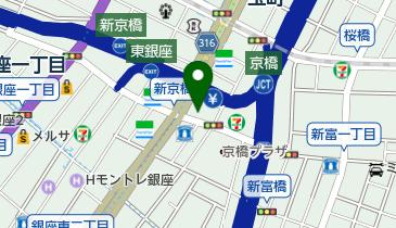 城南信用金庫銀座支店の地図画像