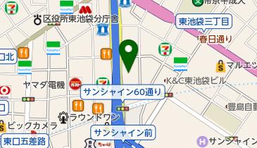 ホテルルートイン東京池袋の地図画像