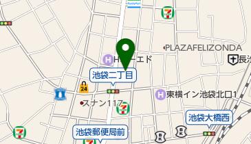 ホテルニュースター池袋の地図画像
