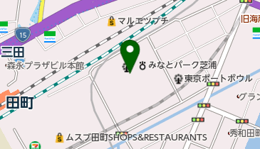 港区スポーツセンターの地図画像