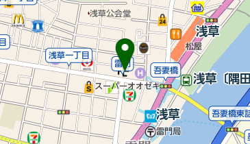 雷門の地図画像