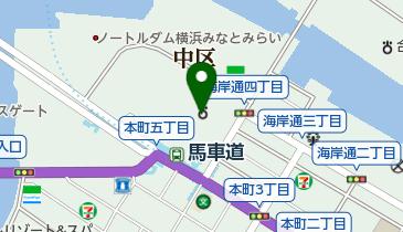 横浜地方法務局の地図画像