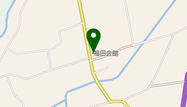 福田会館の地図画像