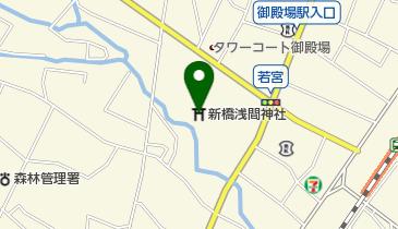 新橋浅間神社の地図画像
