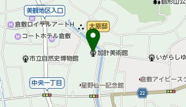 加計美術館の地図画像