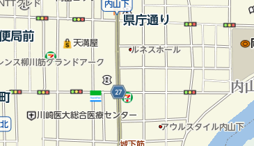 岡山県美作ラグビー・サッカー場の地図画像