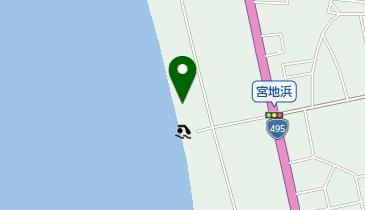 宮地浜海水浴場の地図画像