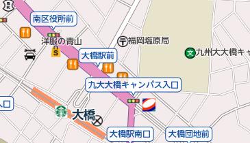 アゴーラ福岡山の上ホテル&スパの地図画像