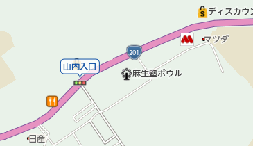 中山キャンプ場の地図画像
