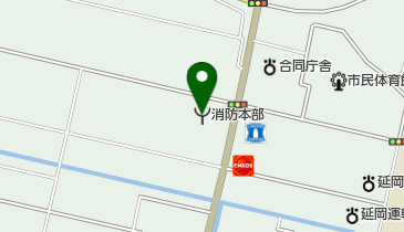 延岡市消防本部の地図画像