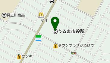 うるま市役所の地図画像