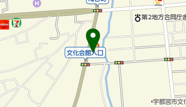 栃木県個人タクシー協同組合無線配車センターの地図画像
