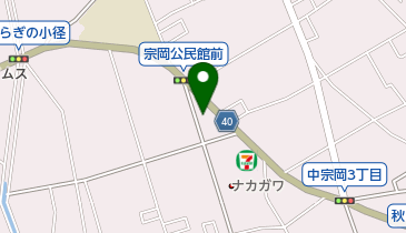 ラウンジ幸の地図画像