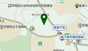 穴八幡宮の地図画像