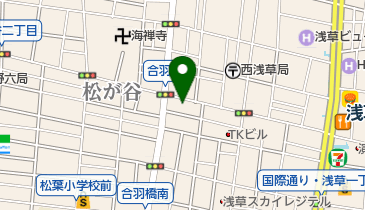有限会社福岡屋 かっぱ橋本店の地図画像