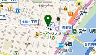 株式会社常盤堂雷おこし本舗 雷門本店の地図画像