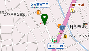 ハトヤ商店の地図画像