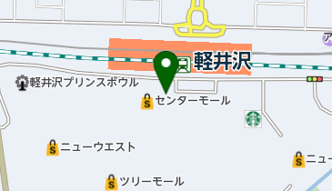 JIMMY・CHOO・TOKYO軽井沢アウトレット店の地図画像