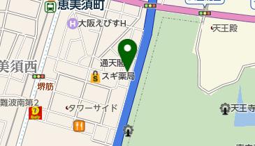 浪速クラブの地図画像