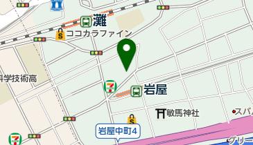 岩屋ビリヤードの地図画像