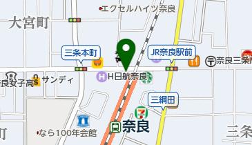JR奈良駅西口自転車駐輪場の地図画像