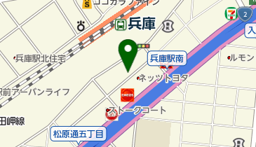 株式会社駅前 兵庫南店の地図画像