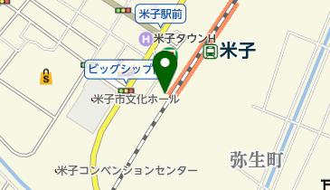 米子駅前地下駐輪場の地図画像