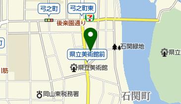 岡山市旅館ホテル協同組合の地図画像