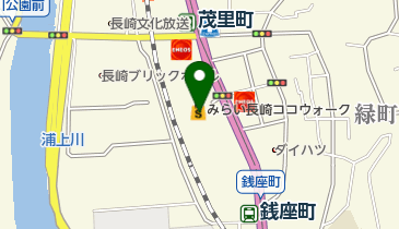 ボーネルンドあそびのせかいみらい長崎ココウォーク店の地図画像