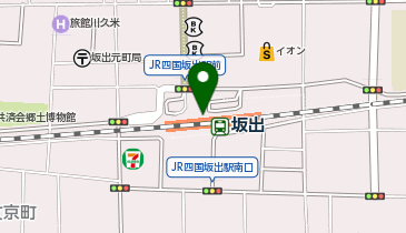 坂出市観光協会の地図画像