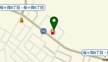桜ヶ岡SS / 富士石油商事(株)の地図画像