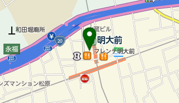 WIRED フレンテ明大前店の地図画像