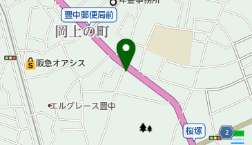 裕寿司豊中店の地図画像