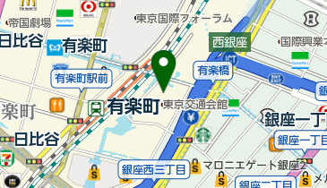 マイアミガーデン 有楽町交通会館店の地図画像