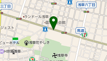 浅草寺病院の地図画像