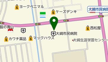 大崎市民病院の地図画像