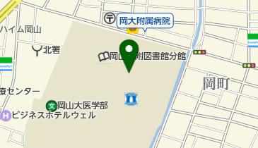 岡山大学病院の地図画像