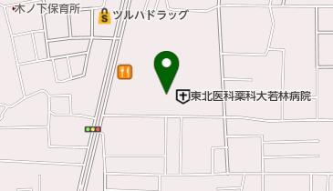 東北医科薬科大学 若林病院の地図画像