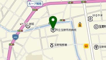 玉野市民病院の地図画像