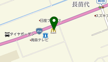 マクドナルド 454八戸西店の地図画像