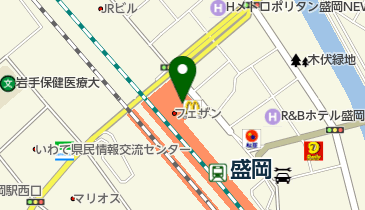 マクドナルド 盛岡フェザン店の地図画像